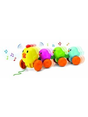 Keenway Музыкальная каталка Цыплята на прогулке