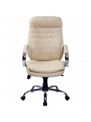 Офисное кресло Baldu Visata Malibu хром натуральная кожа Ivory