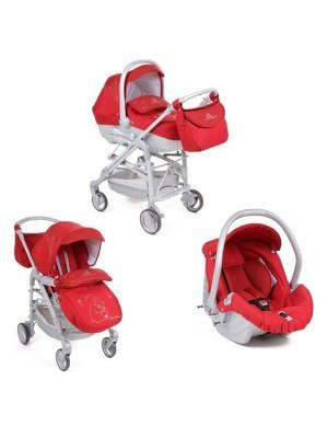 CAM коляска Elegant Family T248 красная/стразы