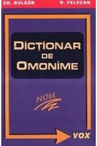 Dictionar de omonime.