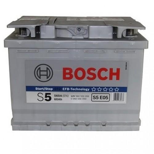 АКБ Bosch S5 EFB 12V 60AH 560(EN)