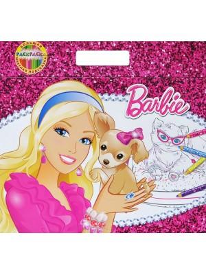 Барби.Большая раскраска-цветная подсказка