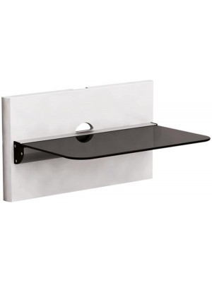 Brateck DVD-18-01 Aluminium&Glass 1 shelve + Wall pannel 305mmx465mm, 8Kg, Cable management