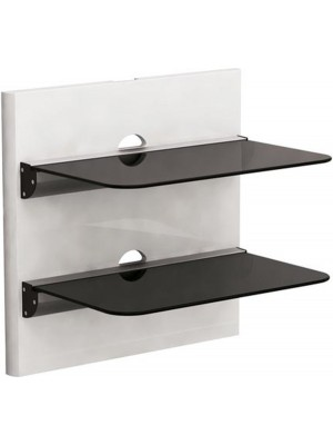 Brateck DVD-18-02 Aluminium&Glass 2 shelves 305mmx465mm, 8Kg, Cable management