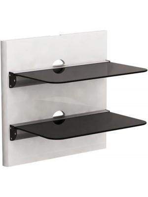 Brateck DVD-18-02 Aluminium&Glass 2 shelves 305mmx465mm, 8Kg, Cable management