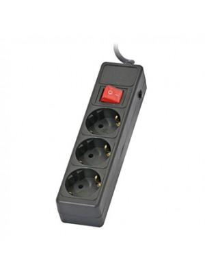 Сетевой фильтр-удлинитель Sven Optima Base 3 Sockets 1,8м Black