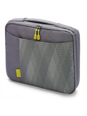 "Dicota D30338 Bounce Slim Case 15""-16.4"" (grey/yellow), Notebook Trendy Slim-Fit Bag"