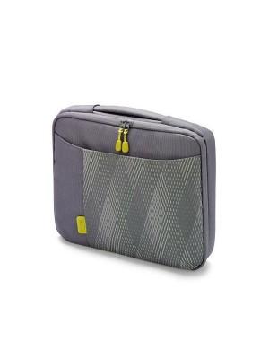 "Dicota D30344 Bounce Slim Case 10""-11.6"" (grey/yellow), Notebook Trendy Slim-Fit Bag"