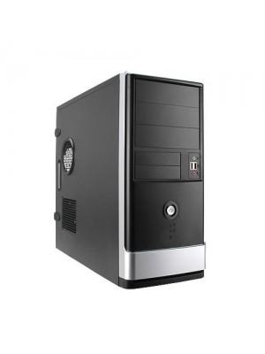 Корпус InWin ATX Miditower EA002 Black/Silver, 400W 12cm fan, 2xUSB2.0, Mic-in, Line-out
