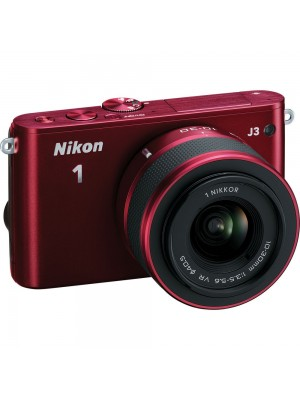 Компактный фотоаппарат со сменным объективом Nikon 1 J3 kit (10-30 mm VR) Red