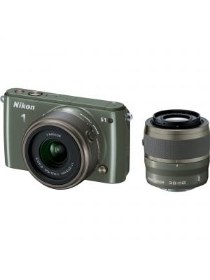 Компактный фотоаппарат со сменным объективом Nikon 1 S1 kit (11-27.5mm) Khaki
