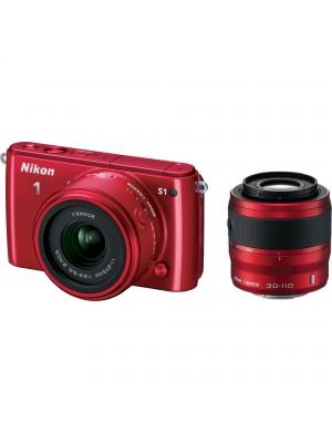 Компактный фотоаппарат со сменным объективом Nikon 1 S1 kit (11-27.5mm) Red