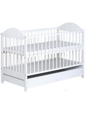 Кроватка Klups EWELINA I белая/сторона сниж
