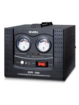 SVEN Automatic Voltage Regulator AVR-500, 500VA/350W