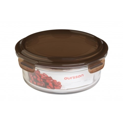 Oursson Стеклянный контейнер CG0800R/TC (Прозрачный с коричневым)