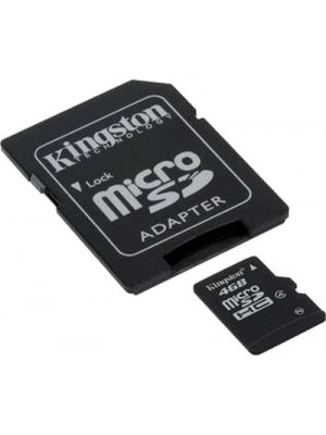 Карта памяти Kingston 4 GB microSDHC class 4 + SD Adapter SDC4/4GB