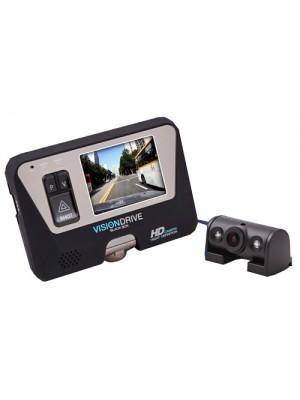 Автомобильный видеорегистратор VisionDrive VD-8000 HDS + VD-400R