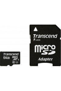 Карта памяти Transcend 64 GB microSDXC UHS-I Premium + SD Adapter TS64GUSDU1