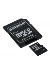 Карта памяти Kingston 16 GB microSDHC class 10 + SD Adapter SDC10/16GB