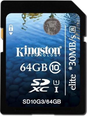 Карта памяти  Kingston 64 GB SDXC Class 10 UHS-I Elite SD10G3/64GB
