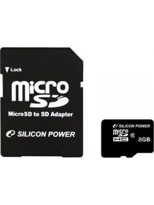 Карта памяти Silicon Power 8 GB microSDHC Class 10 + SD adapter