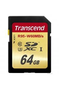 Карта памяти Transcend 64 GB SDXC UHS-I U3 TS64GSDU3