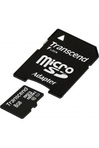 Карта памяти Transcend 8 GB microSDHC UHS-I Premium + SD Adapter TS8GUSDU1