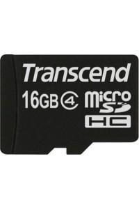 Карта памяти Transcend 16 GB microSDHC class 4 + SD Adapter TS16GUSDHC4
