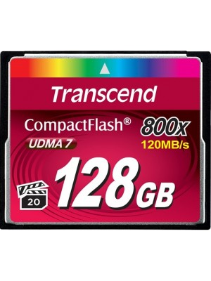 Карта памяти Transcend 128 GB 800X CompactFlash Card TS128GCF800