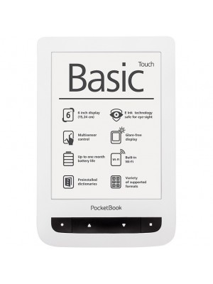 Электронная книга Pocketbook Basic Touch (624) White
