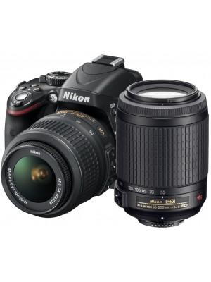 Зеркальный фотоаппарат Nikon D3200 Kit (18-55mm + 55-200mm) VR