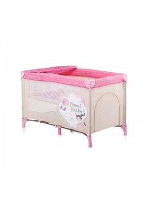 Кровать-манеж Chipolino Sienna SIS0153ME pink